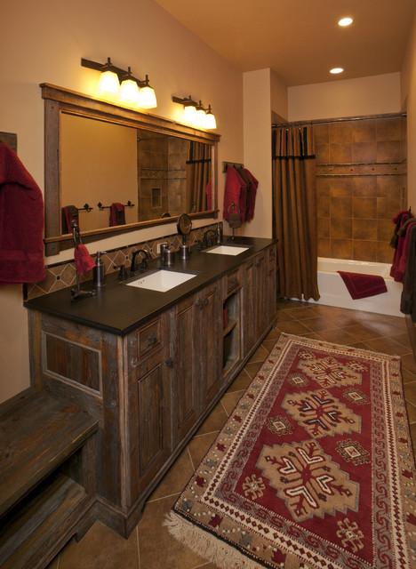 Lynne Barton Bier - Home on the Range Interiors rustic-bathroom