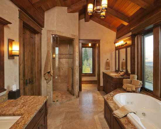 Rustic light fixtures bathroom design ideas pictures for Houzz rustic lighting
