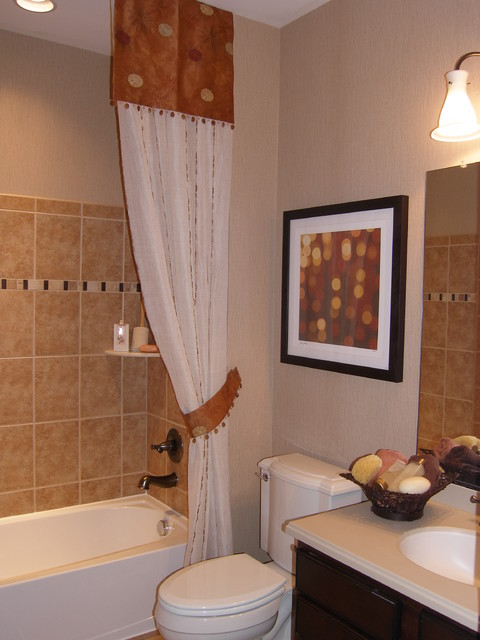 Lynnwood model home eclectic bathroom dc metro by for Model home bathroom photos