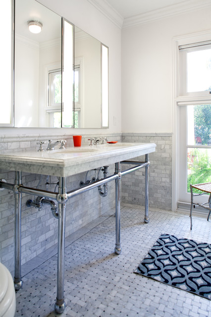 M G Residence Traditional Bathroom Los Angeles By