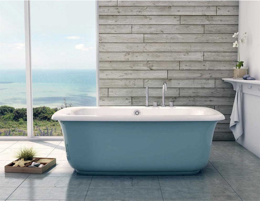 Maax Glacier Blue Freestanding Bathtub - Bathroom - New ...