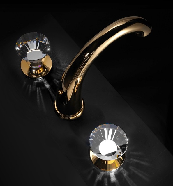 Macral Design Faucets.Traditional Faucet With Swarovski Crystal.  Traditional Bathroom