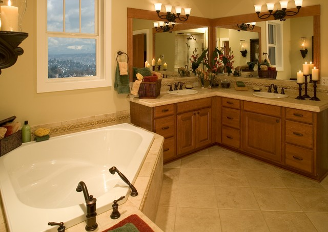 Madison park model home for Model bathrooms photos