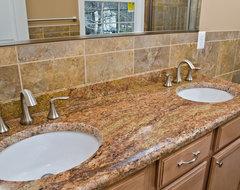 Madura Gold Granite Double Bathroom Vanity traditional-bathroom