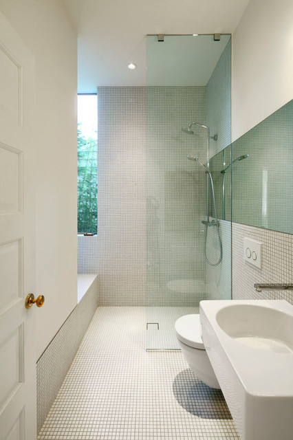 Inspirational Contemporary Bathroom by SHED Architecture u Design