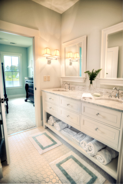 Magnolia traditional bathroom charleston by for Master bathroom jack and jill