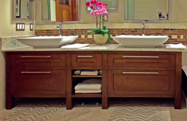 Mahogany Bathroom Vanity Contemporary Bathroom