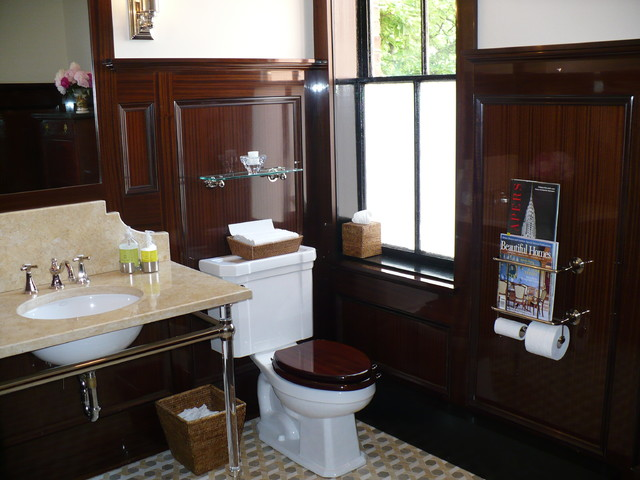 Mahogany Paneled Bathroom Traditional Bathroom