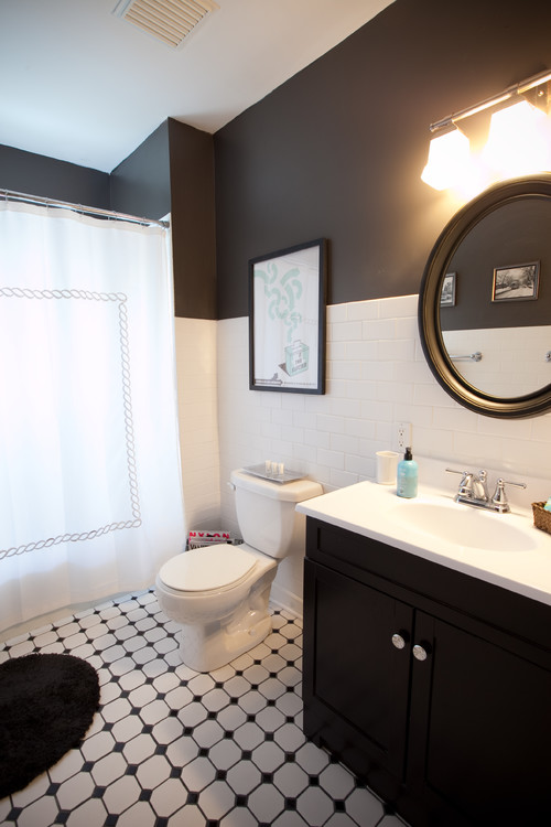 Superieur 10 Gorgeous Black And White Bathrooms Huffpost