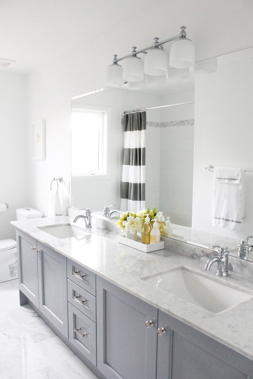 Choosing bathroom paint colors for walls and cabinets - Best light gray paint color for bathroom ...