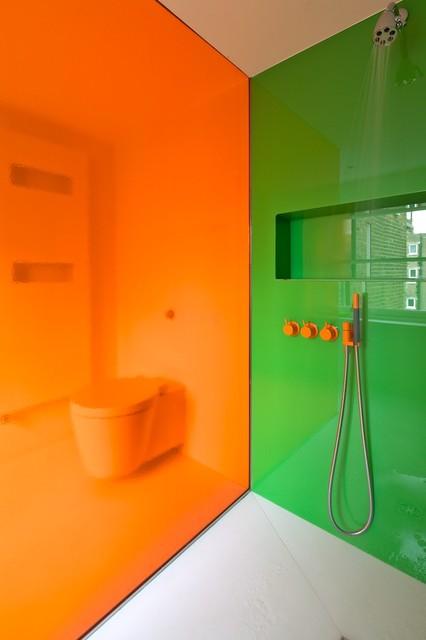 Maisonette, Notting Hill contemporary-bathroom