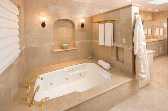 Majestic Adobe Spa-like Bathroom - Mediterranean - Bathroom - santa barbara - by Trillium ...