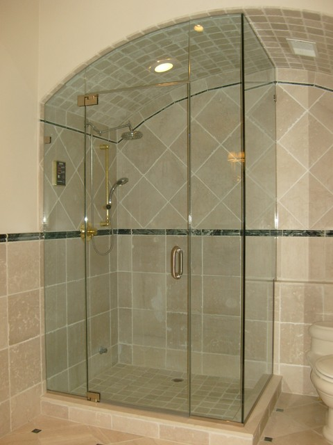 Majestic Series Frameless Arced Shower Door Enclosures By GlassCrafters Inc