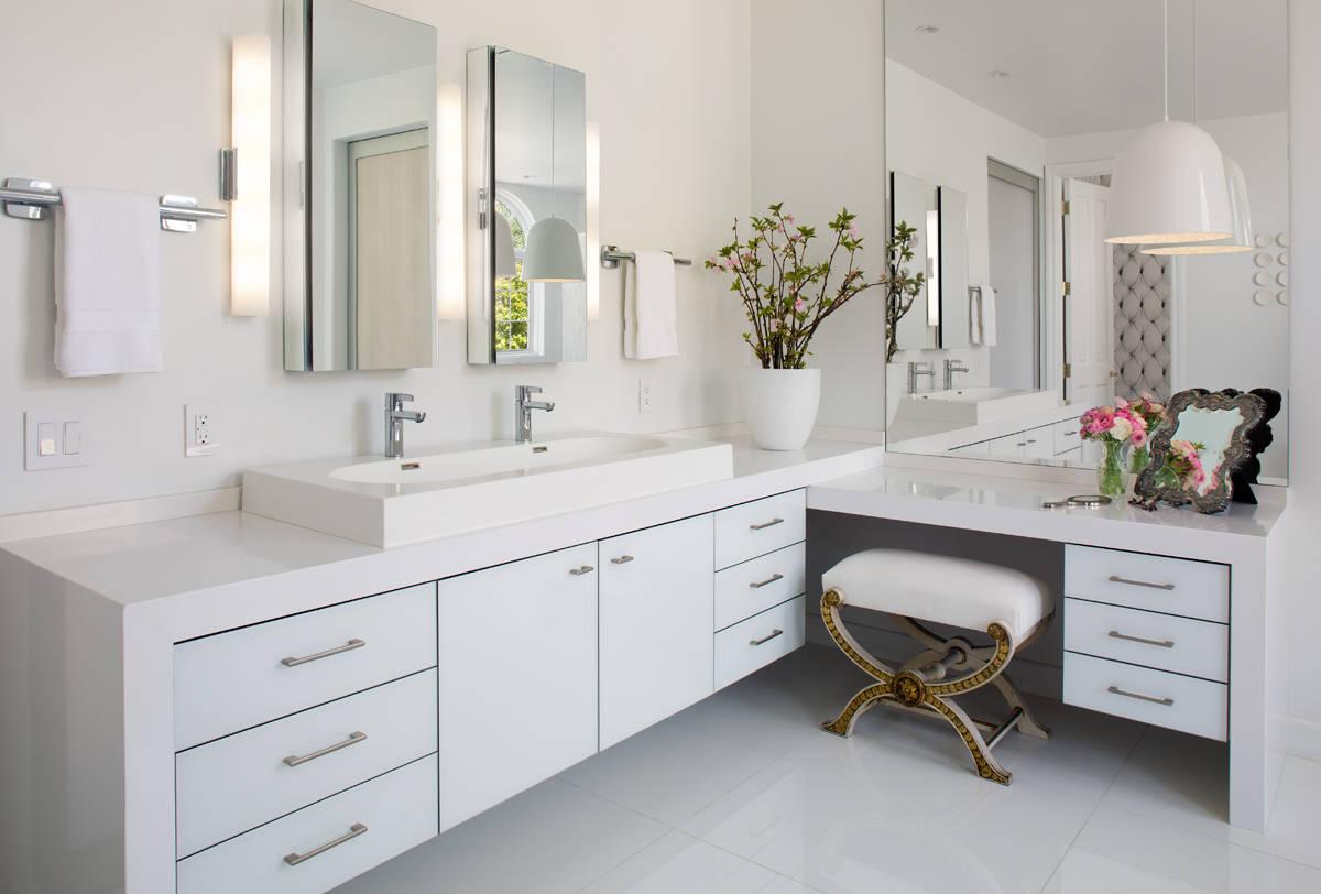 White Countertop Bathroom Ideas Houzz