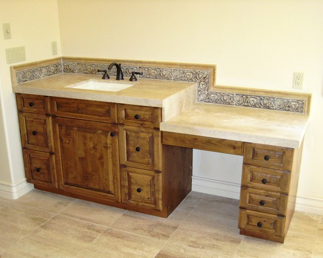 Makeup Vanity Or Dressing Table Mediterranean Bathroom