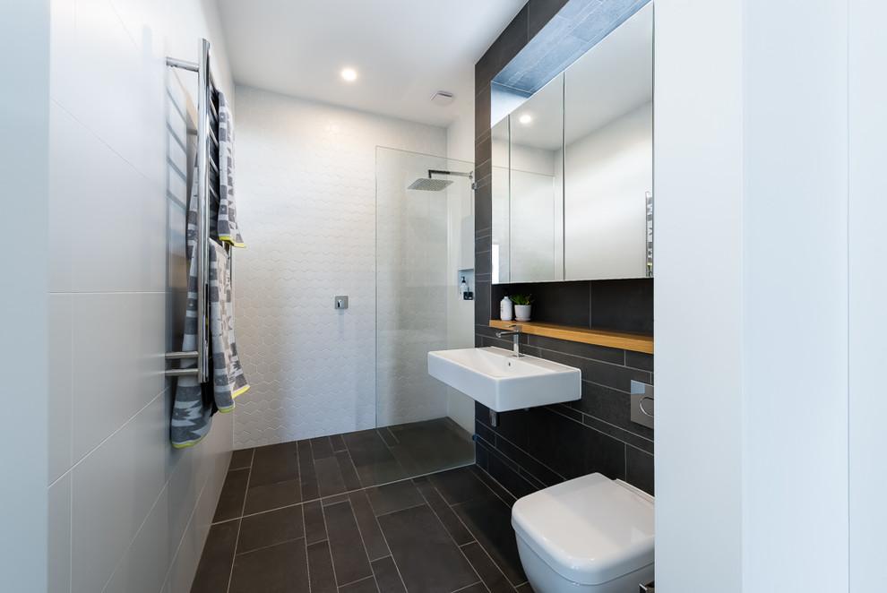 Design ideas for a contemporary bathroom in Sydney.