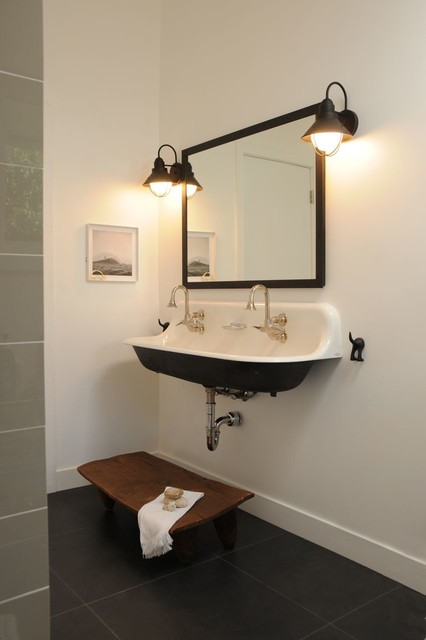 Malibu Home Scandinavian Flair Contemporary Bathroom Los Angeles Enfant Terrible