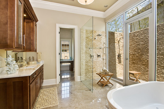 Malkemus residence transitional bathroom for Bathroom new orleans