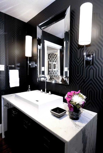 Mallin Cres - Powder Room contemporary bathroom