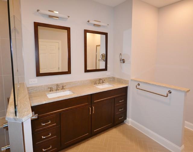 Malvern Master Bath Remodel With Large Barrier Free Shower