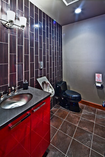 Man Cave Dream Garage Contemporary Bathroom