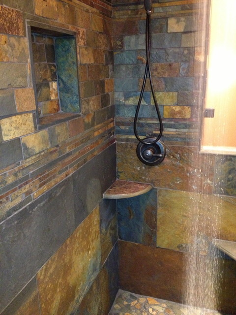 Man cave shower remodel for Man cave bathroom ideas