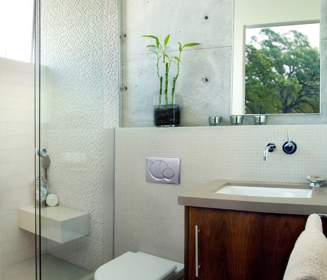 Manhattan Beach Ultra Modern Guest Bathroom Remodel - Modern