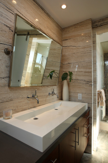 Manhattan beach ultra modern master bathroom remodel for Master bathroom modern