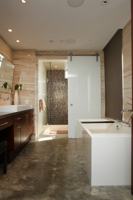 Manhattan beach ultra modern master bathroom remodel for Ultra modern bathroom designs