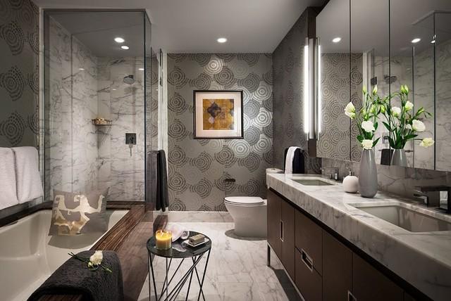 Manhattan Pied-a-Terre modern-bathroom