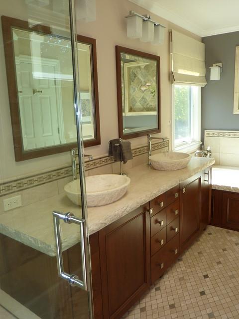Manhattan style master bedroom traditional-bathroom