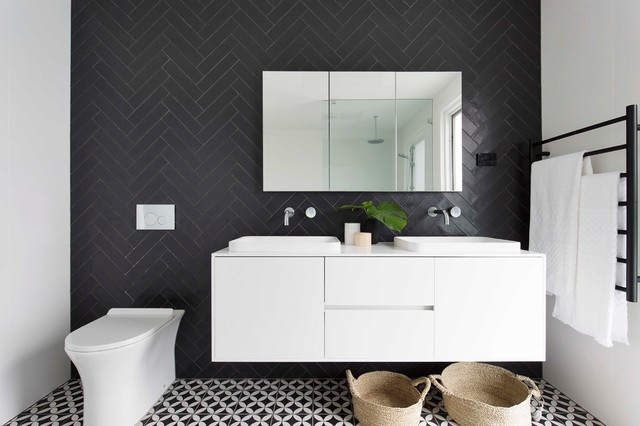 Inspiration for a contemporary bathroom remodel in Sydney