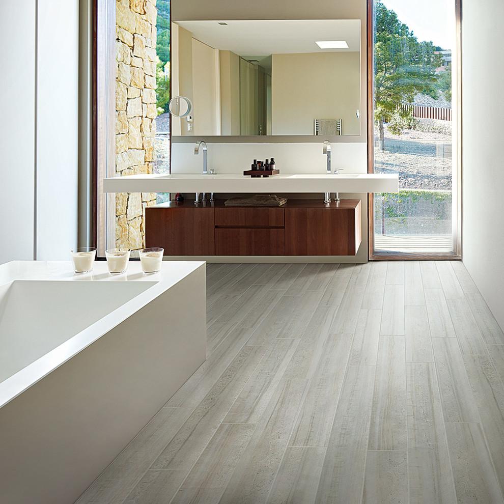 Mannington Haven Contemporary Wood Look Tile Flooring Modern Bathroom San Francisco By Qualityflooring4less Com Houzz