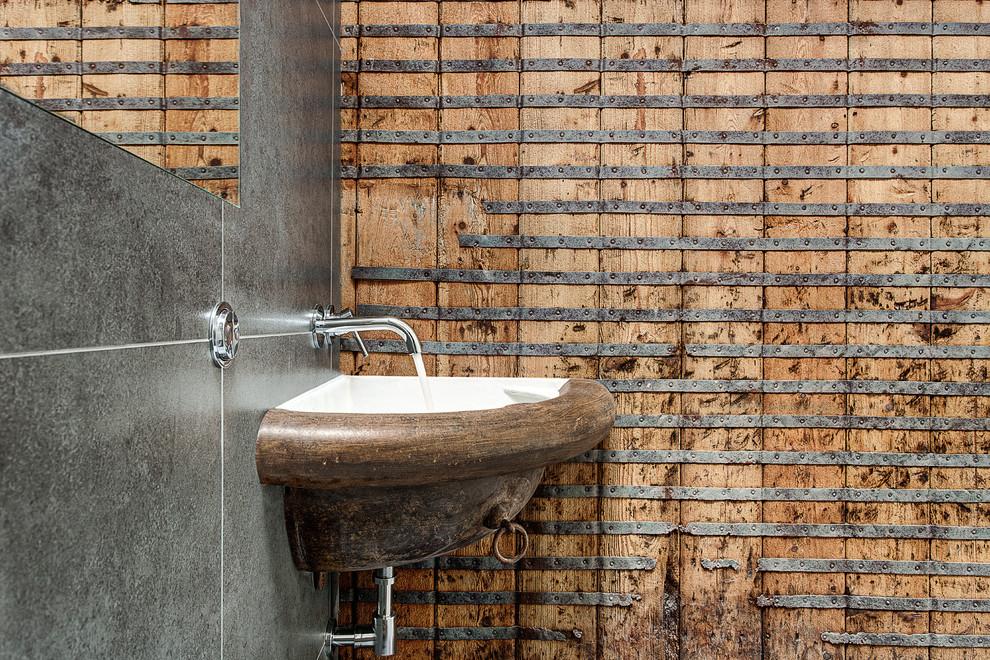 Пример оригинального дизайна интерьера: ванная комната в современном стиле