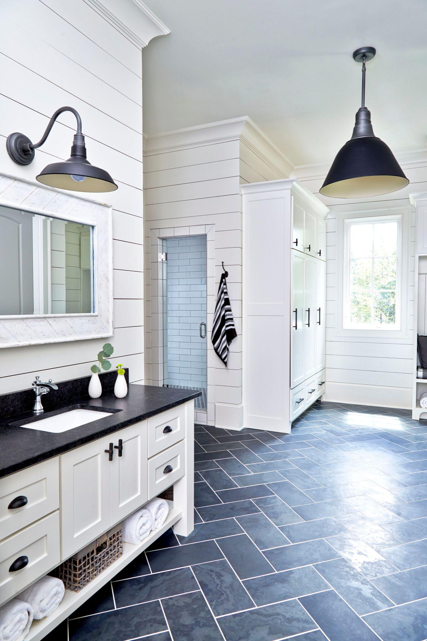 75 Beautiful Farmhouse Slate Floor Bathroom Pictures Ideas April 2021 Houzz