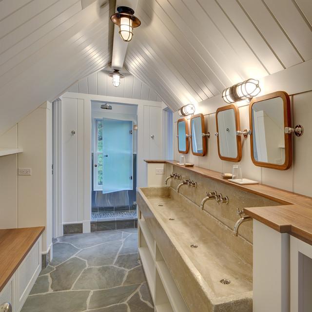 Flight Bathroom Door: Beach Style