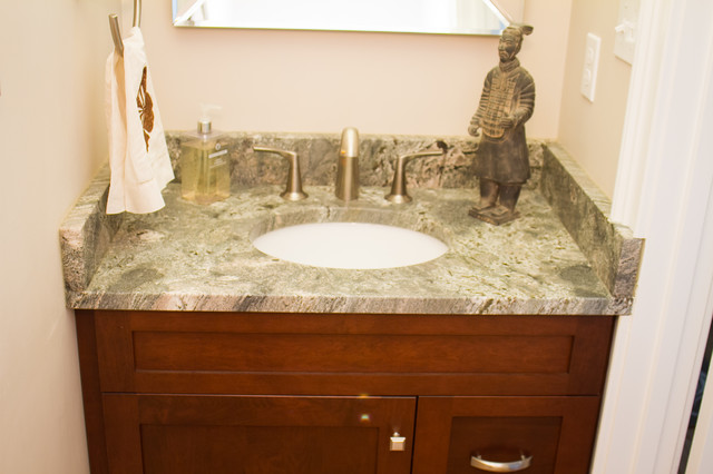 New Caledonia Granite For A Traditional Bathroom With CustCaledonia Kitchen