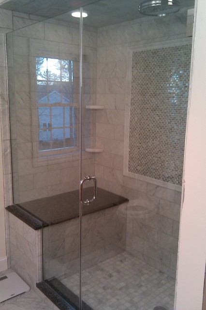 Marble Amp Granite Shower Traditional Bathroom Boston