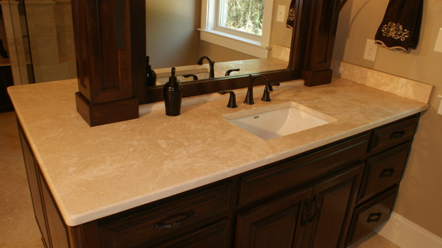 Marble U0026 Travertine Countertops Traditional Bathroom