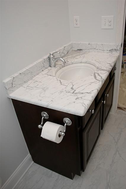 Marble Bath traditional-bathroom