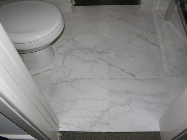 how to clean marble floor in bathroom