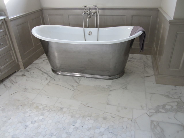 Marble Bathroom Floor Traditional Chicago By Exceed Home