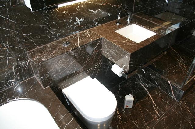 Marble Bathroom, Manor Street Contemporary Bathroom