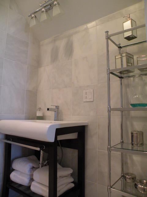 Marble Bathroom Renovation contemporary-bathroom