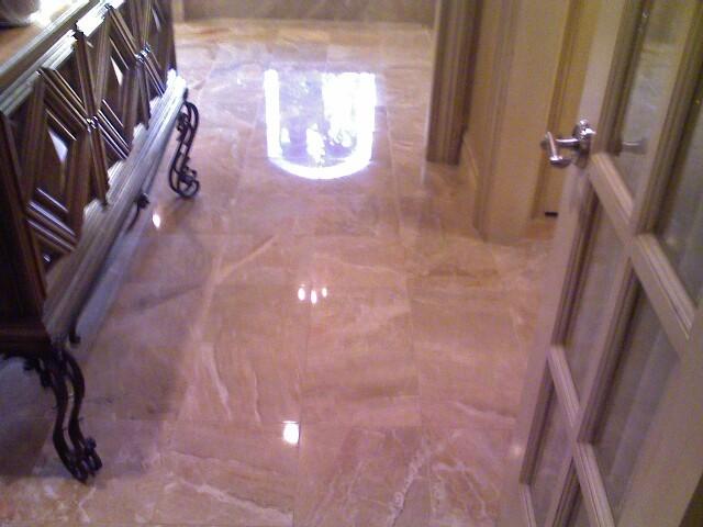 Marble Floor Sanding : Marble floor after refinishing bathroom oklahoma city