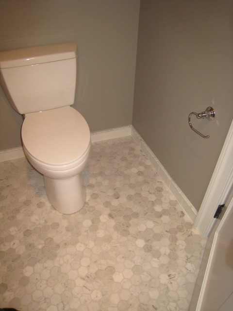 Marble floor tile traditional bathroom philadelphia by stoneshop Marble hex tile bathroom floor