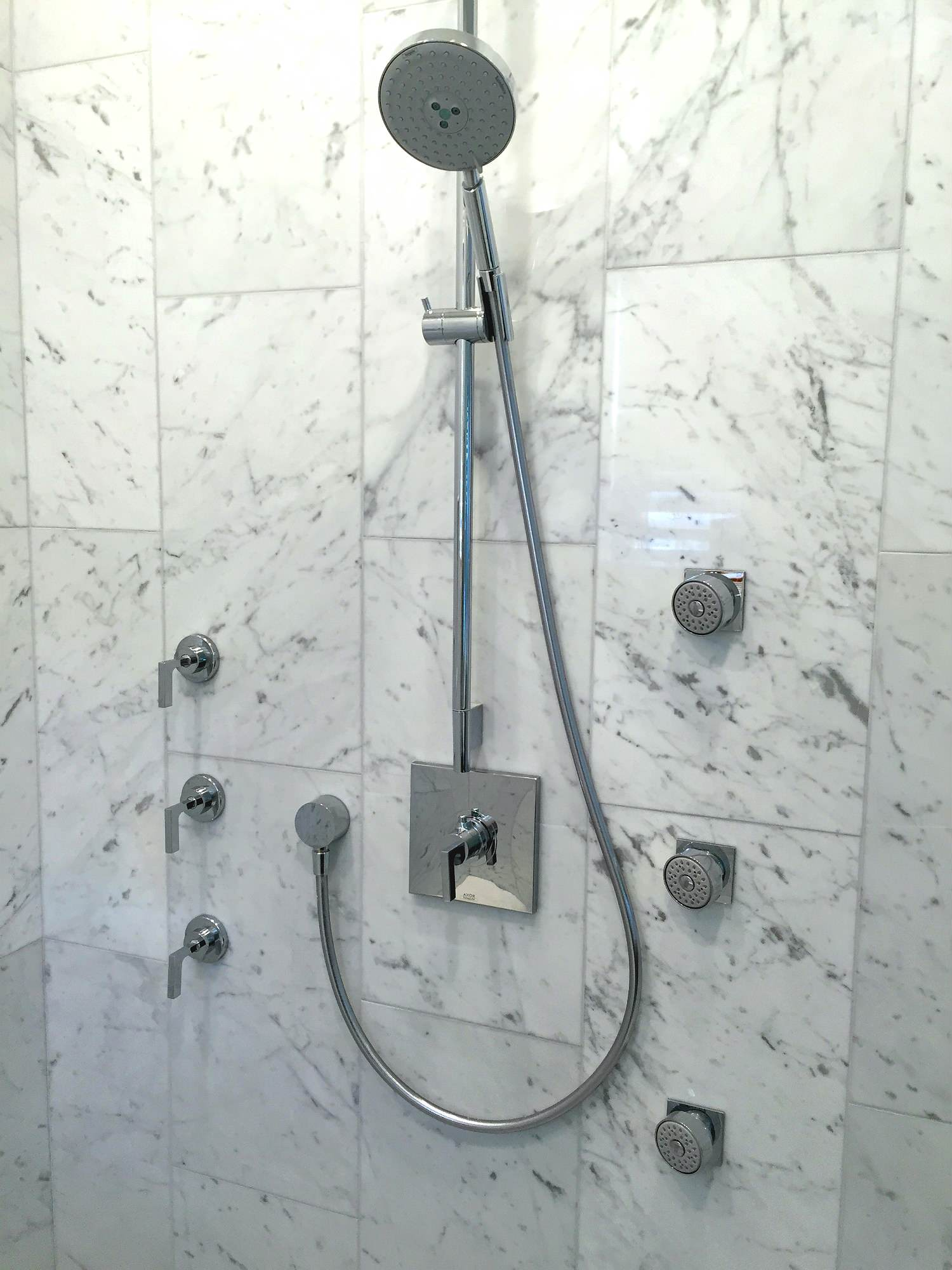 Marble Inspired Restrooms