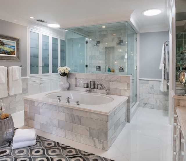 Marble Master Bath In Los Angeles Ca Traditional Bathroom Los Angeles By Lauren