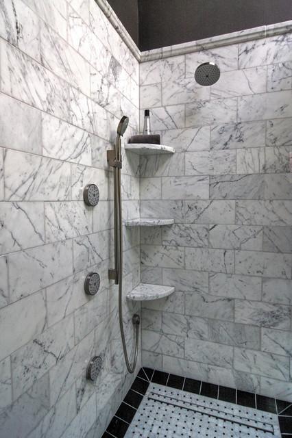 Marble Master Bath traditional-bathroom
