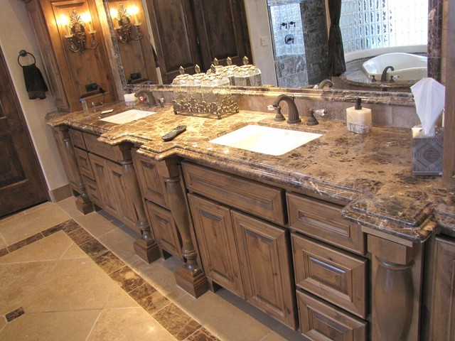 Marble Master Bath Remodel - Traditional - Bathroom - phoenix - by JDM Countertops, Inc.